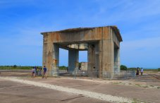 The launch pedestal remains from launch complex 34 where the Apollo 1 astronauts died in a fire during a test in 1967. (Craig Davis/Craigslegztravels.com)