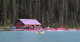 Canoeing is the popular way to enjoy Lake Louise in the summer, skating in the winter. (Craig Davis/craigslegztravels.com)
