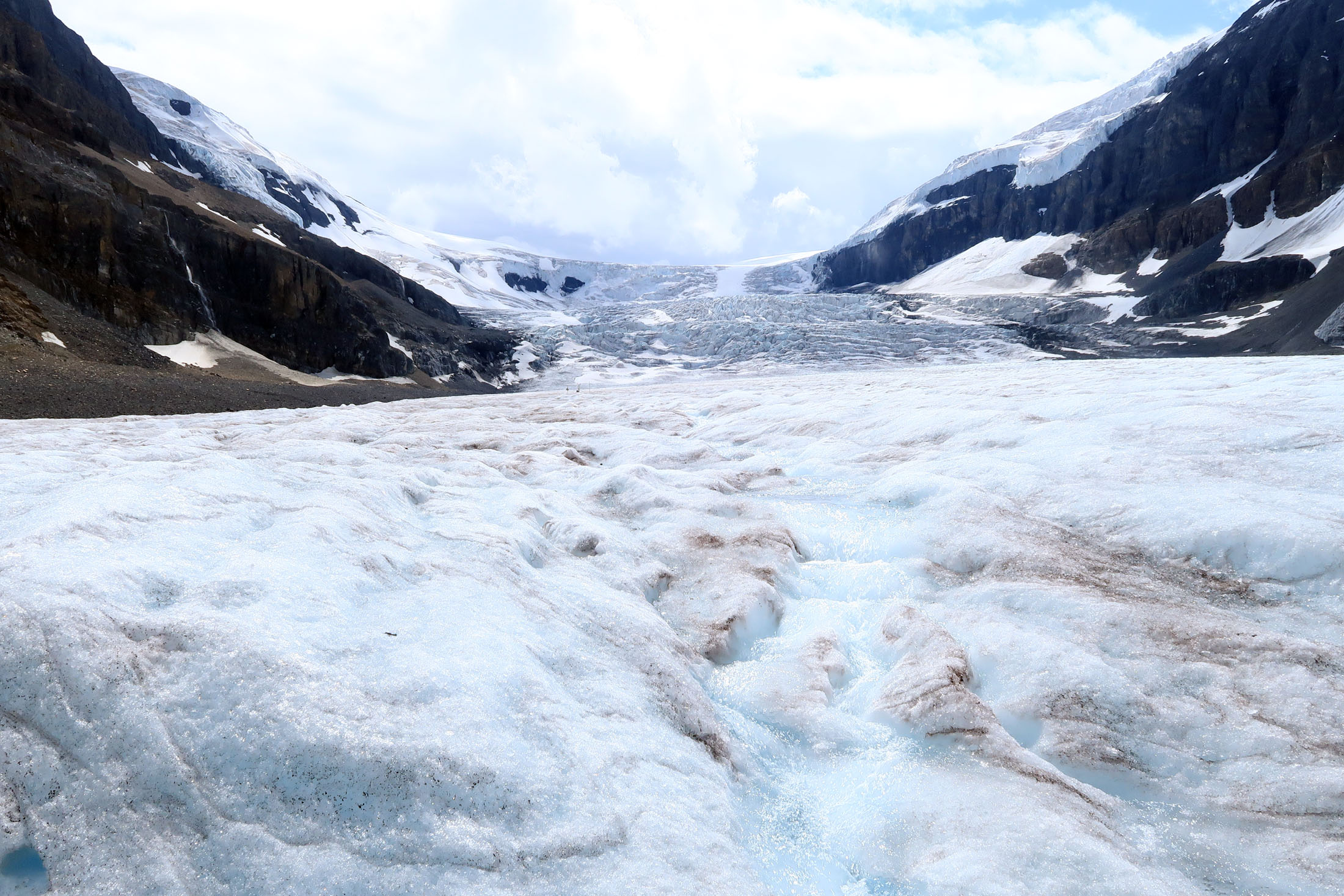 While the Athabasca Glacier has been gradually shrinking for 150 years, the pace has increased this century as the average temperature rises. (Craig Davis/craigslegztravels.com)