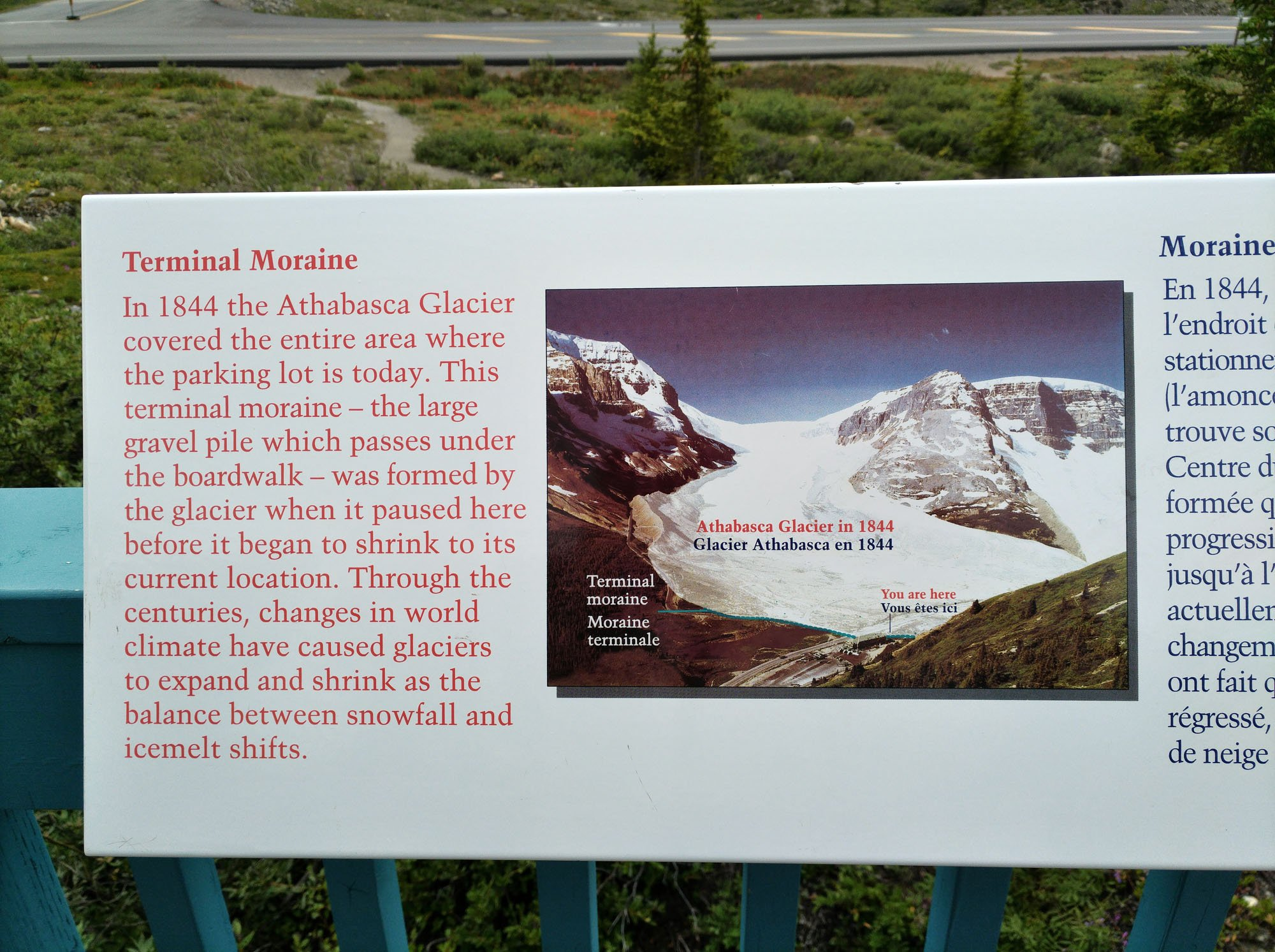 The size of the Athabasca Glacier has varied over time. This century it has been hastening decline. (Craig Davis/Craigslegztravels.com)