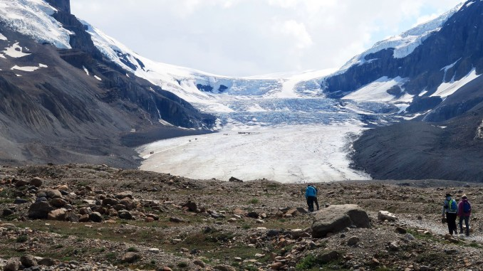 Athabasca Glacier has been shrinking at a more rapid rate this century as the average temperature rises. (Craig Davis/Craigslegztravewls.com)