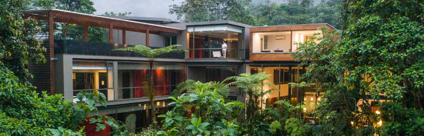 Mashpi Lodge, with walls of glass spanning 1,000 square meters, is designed to provide guests with maximum exposure to the cloud forest.