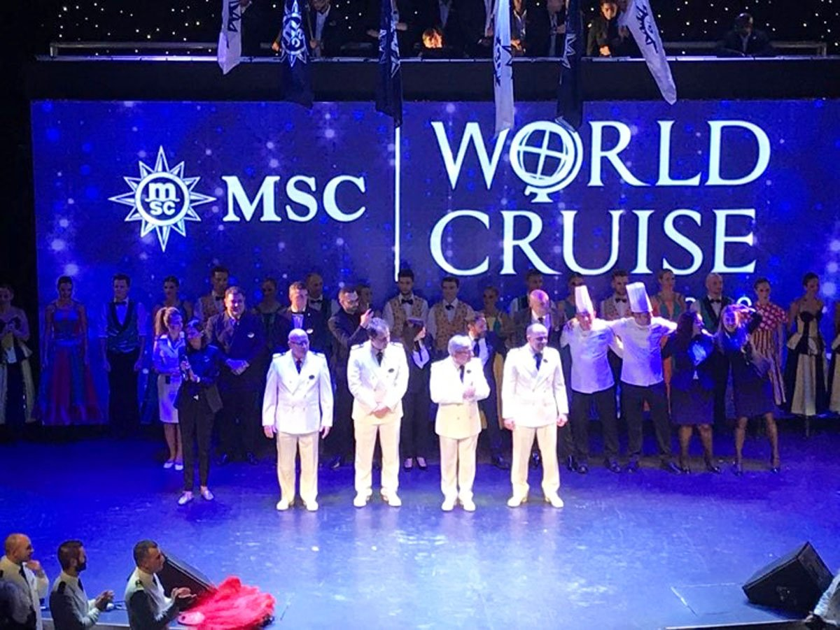 Passengers on the MSC World Cruise lived in their own protective bubble away from coronavirus and may have been the last place anywhere with live theater performances. (Courtesy/Woywod family)