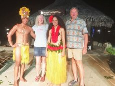 Cher and Michael Woywod during the MSC world cruise stop in Tahiti. (Courtesy/Woywod family)