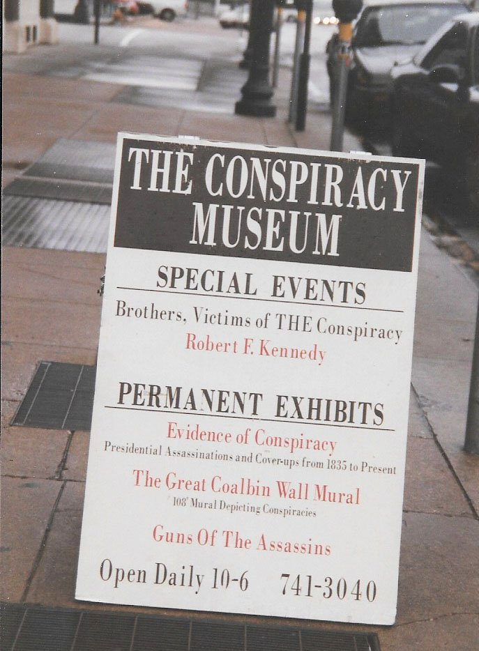 The Conspiracy Museum in Dallas presented alternate views on the JFK assassination and other events. It has since closed. (Craig Davis/craigslegztravels.com)