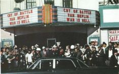 The scene outside the Texas Theatre when Lee Harvey Oswald was arrested on Nov. 22, 1963.