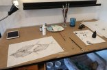 Lisa Lee can create the illusion of a school of fish from a Gyotaku printing of one fish. (Craig Davis/Craigslegztravels.com)