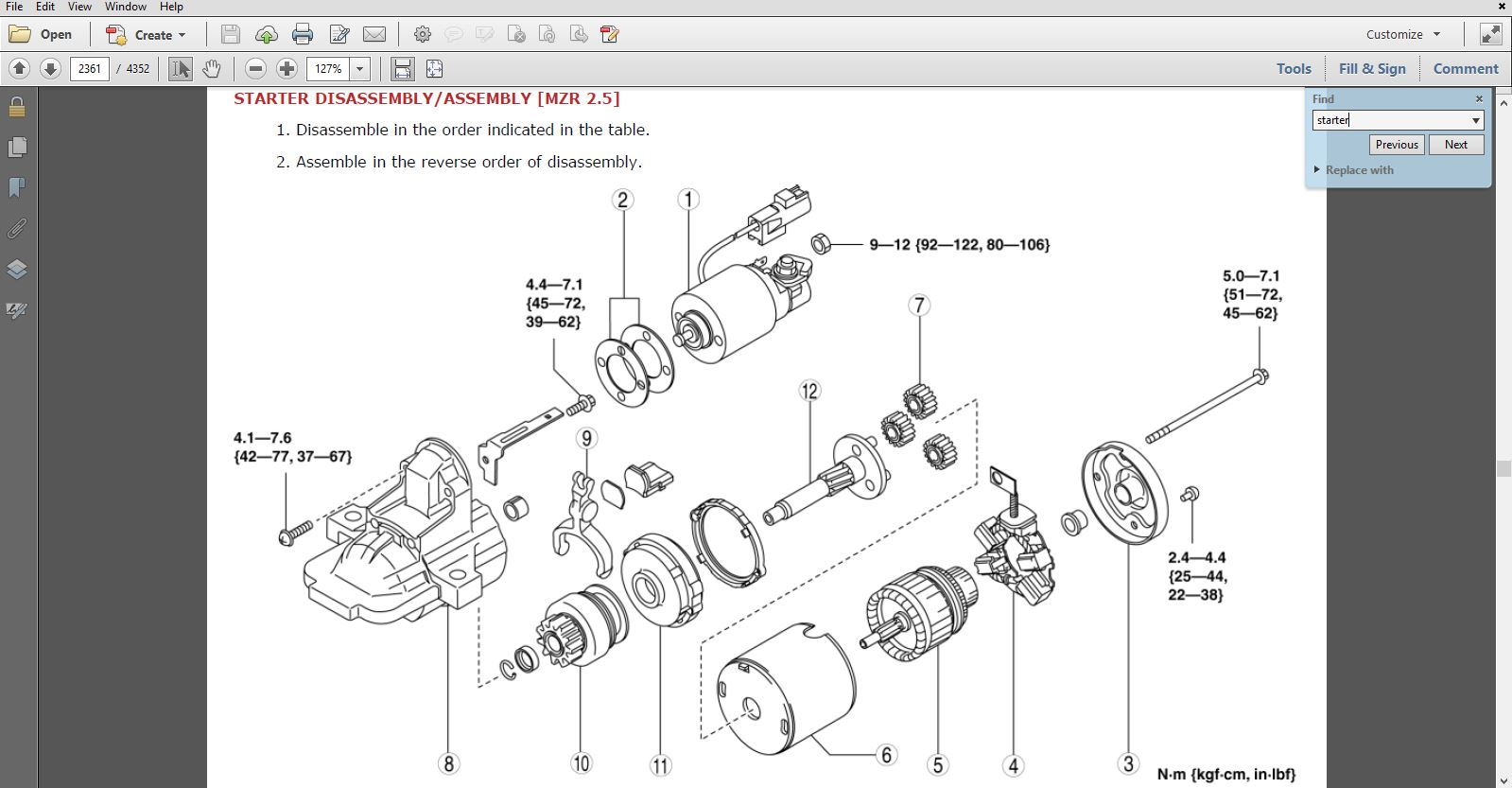hight resolution of 2010 mazda cx 9 factory repair service manual