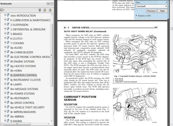2003 Chrysler PT Cruiser Factory Repair Service Manual