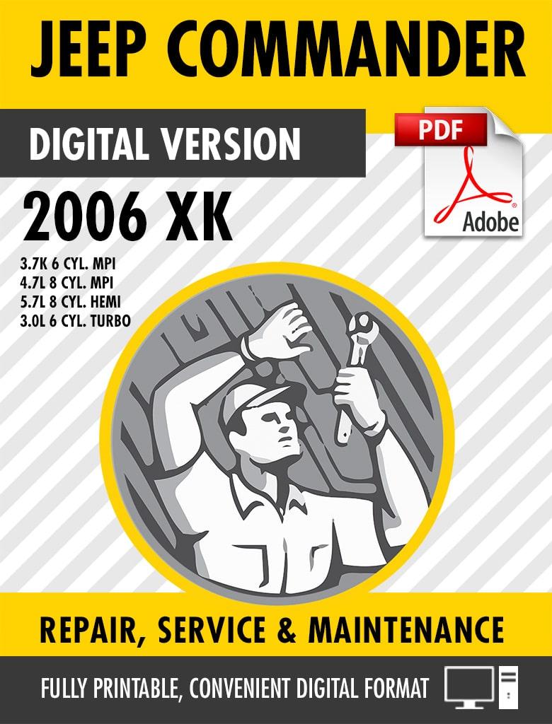 medium resolution of 2006 2010 jeep commander xk factory repair service manual