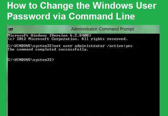 How to Change the Windows User Password via Command Line