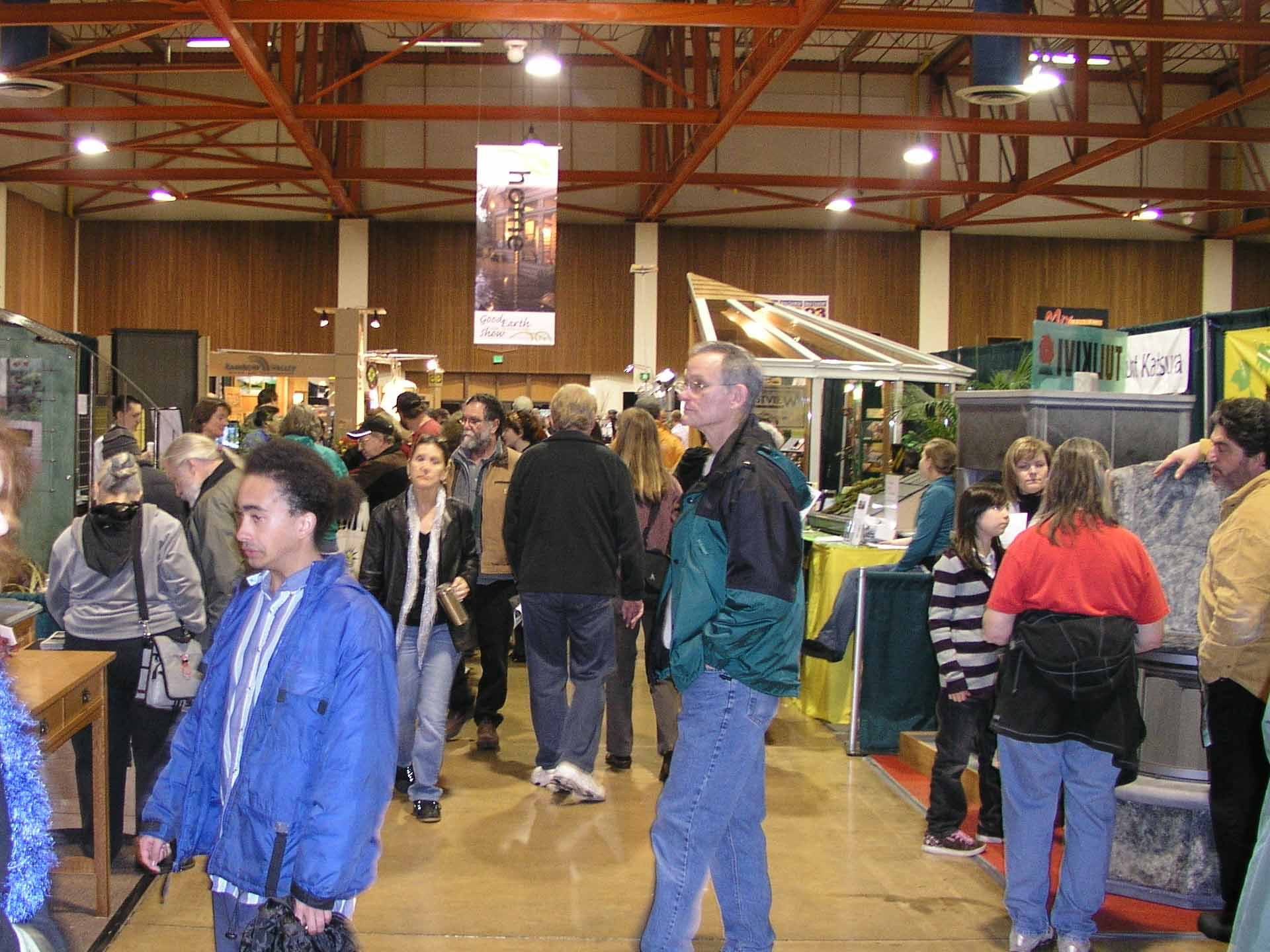 Eugene's Green Home Show was a busy place.
