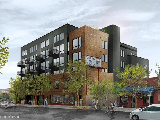 Rendering of The Colewood Apartments