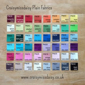 craisymissdaisy plain cotton fabrics