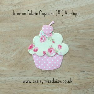 craisymissdaisy iron on fabric cupcake #1 applique