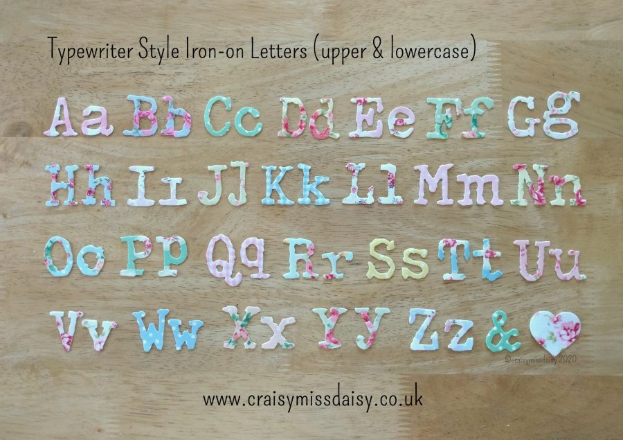 craisymissdaisy-Typewriter-Style-Iron-on-letters-upper-and-lowercase