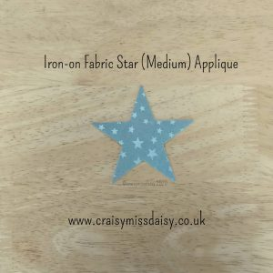 craisymissdaisy iron on fabric star medium