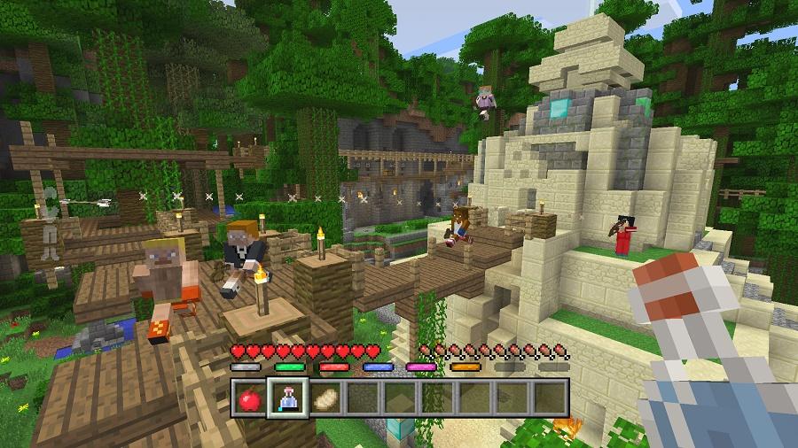minecraft battle mode temple map