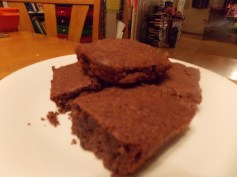 Homemade brownies--1st ever