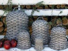 Växtklockor i korg för skugga eller vinterskydd
