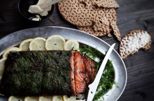 black garlic gravad lax
