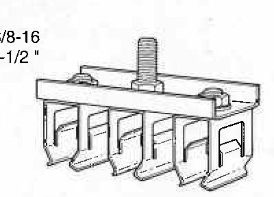 Item # FE-908-2SF4, Zinc Plated Steel Four-Gang Hanger