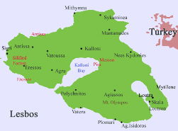 Greek isl of Lesbo