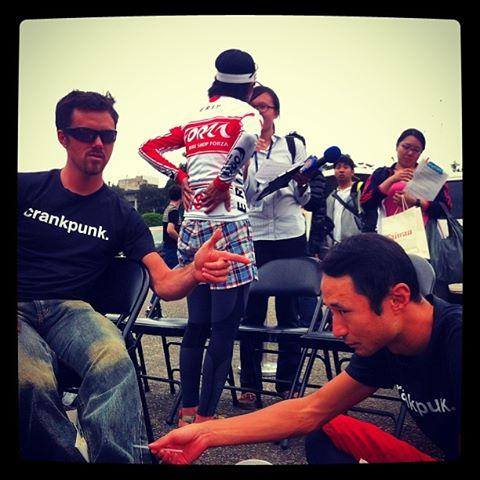 Cory Wallace (Canadian Marathon MTB champion 2013) and Takei Kyosuke (former Japanes national MTB squad pro) get punky