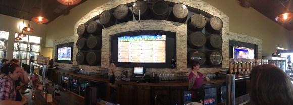 The taproom at Brew Hub
