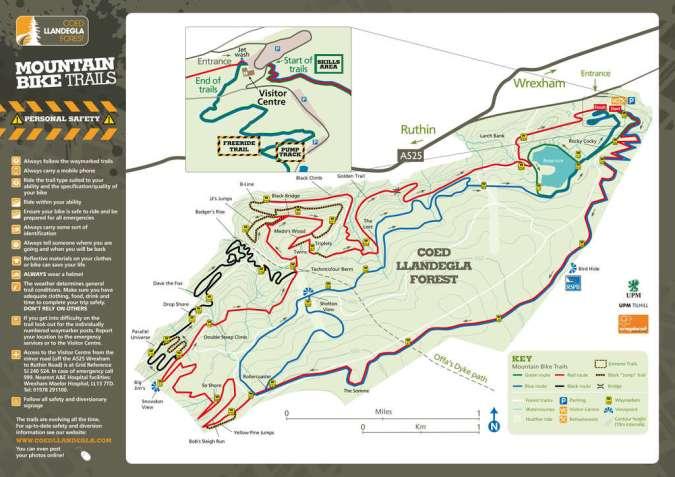 opa coed llandegla trail center map ride guide mountainbiking