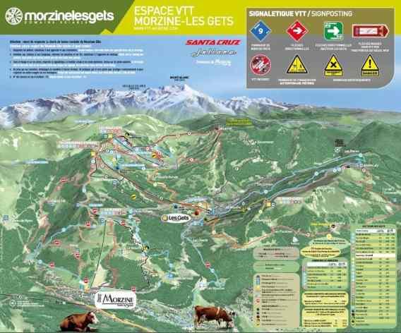 Morzine map