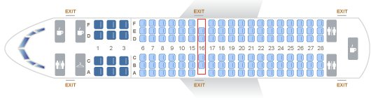 Two Seat Exit Row