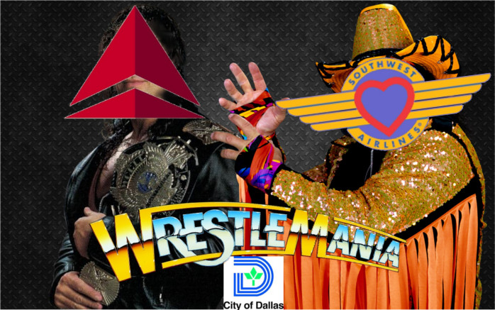 Delta Southwest Love Field Wrestlemania
