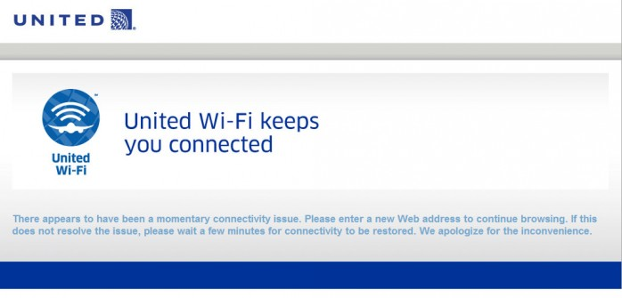 United Wifi Fail