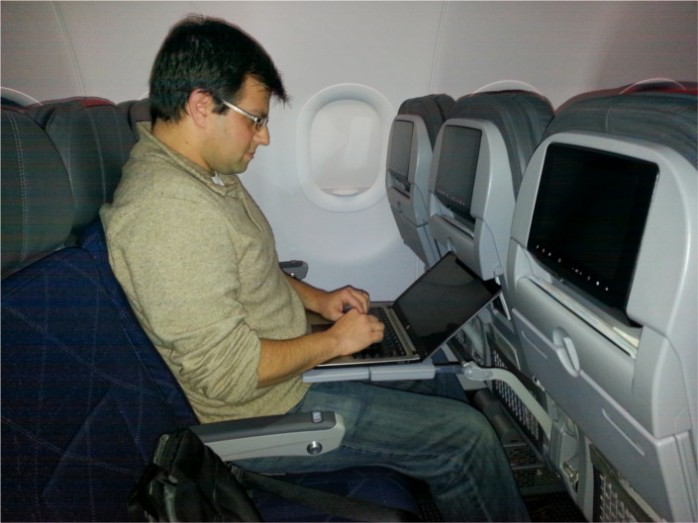 Working in Coach on American A321 Transcon
