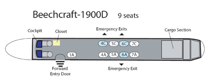 Nine Seat Beechcraft 1900