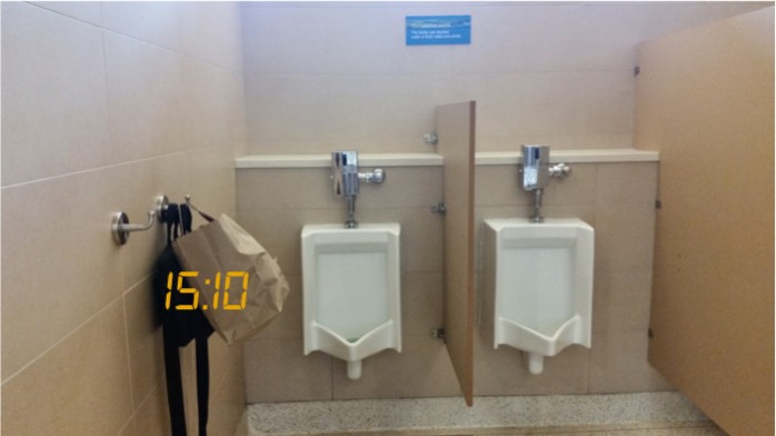 Bathrooms at San Jose Terminal B