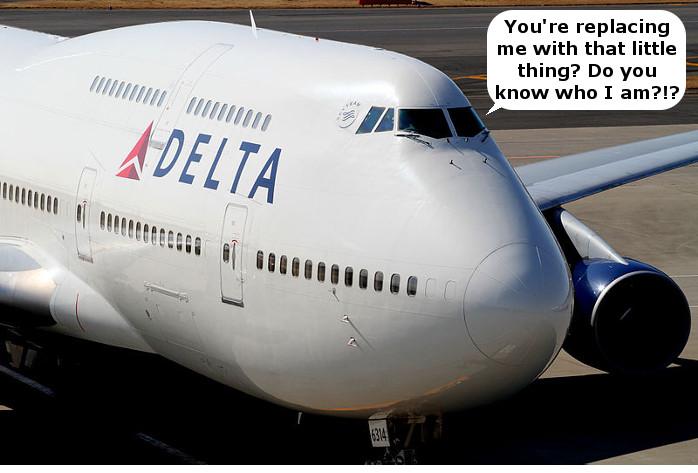 Delta 747 Goodbye