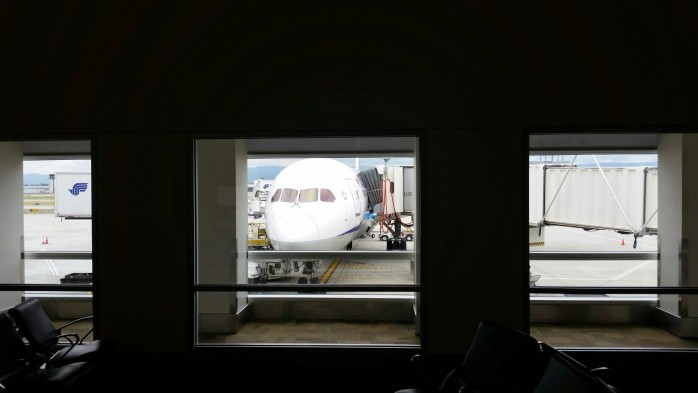 ANA 787 at San Jose