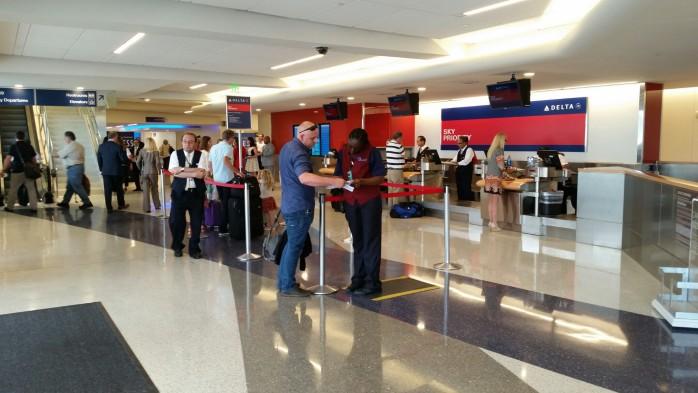 Delta Terminal 5 LAX SkyPriority Ticket Counter