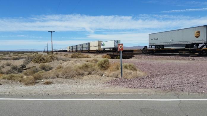Train Rolls Through Amboy