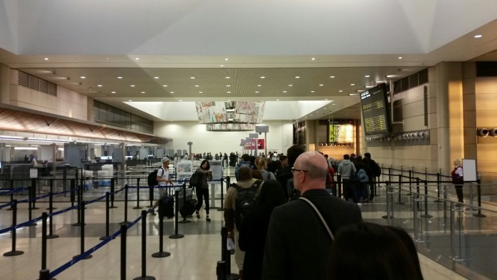 TBIT Security Line LAX
