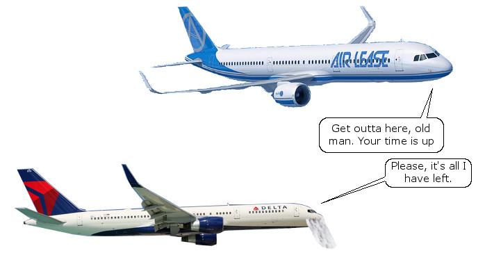 A321LR Tells 757 Goodbye