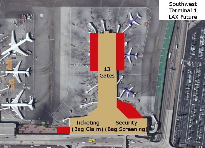 Southwest Terminal 1 LAX Future