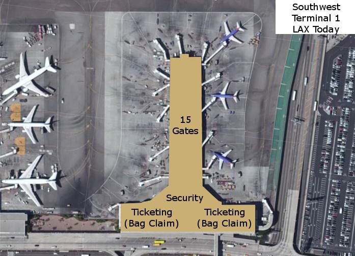 Southwest Terminal 1 LAX Current
