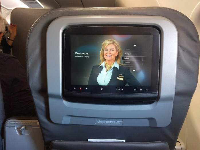 American A321 First Class TV