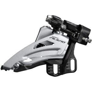 Shimano Front Derailleur, FD-M3120-E, Alivio, for 2X9, Side-Swing, Front-Pull, E-Type (w/o BB Plate), CS-Angle: 64-69, for TOP Gear: 36T, CL: 48.8/51.8MM