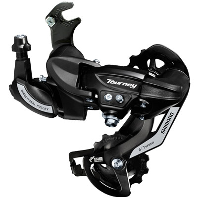 Shimano Rear Derailleur, RD-TY500, TOURNEY, 6/7-Speed, w/RIVETED Adapter(Road Type), w/ Wheel Type Cable GUIDE