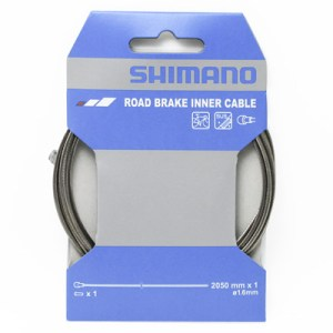 Shimano Road SUS Stainless Stell Brake Inner Cable, 1.6mm X 2050mm