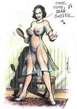 barb spanking art